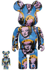 Be@rbrick Andy Warhol's Marilyn Monroe BEARBRICK 100% 400% NEW  JAPAN Freeship