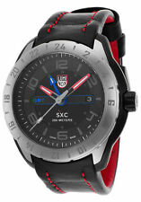 Luminox 5127 Men's SXC Space GMT Series Black Dial Black Genuine Leather