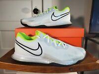 Nike Court AirZoom VaporCage4 Tennis Shoes Mens White Volt CD0424-100🔥🎾