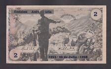 Central America 2 Pesos Nd 1958 Unc- Revolution Serial No 25521