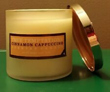 CINNAMON CAPPUCINO 4 oz CANDLE White Barn True Temptation Bath & Body Works NWT