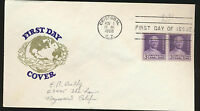 Canal Zone #153 Coil Pair First Day Cover Van Dahl Cachet Panama Canal Lot 924