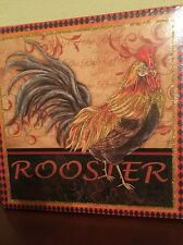 ROOSTER farm animal canvas picture  Wall Hanging country  home decor 10 X 10