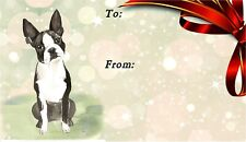 Boston Terrier Dog Self Adhesive Gift Labels by Starprint