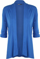 New Ladies Short Sleeve Button Open Cardigan Womens Stretch Top Plus Size