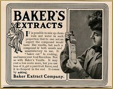 1903 Baker's Extracts Cook Flavor Chemicals Housewife Package Print Ad