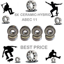8 precisione ABEC 11 Hybrid CERAMIC BEARINGS Skate Inline Skateboard Scooter 9