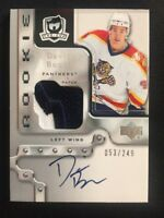 2006-07 UPPER DECK THE CUP DAVID BOOTH ROOKIE PATCH AUTO #ed 53/249 FLORIDA