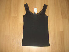 H&M Waist Length Cotton Patternless Tops & Shirts for Women