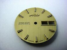 Gold Ocean Star Mido Datoday 29.33mm Vintage Watch Dial Stick Markers New Old St