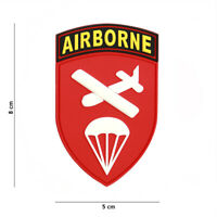 Airsoft morale patch BRITISH PARA AIRBORNE GLIDER 3D PVC  WWII hook and loop