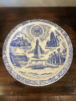 Vernon Kilns Pottery Blue University Of Washington Plate
