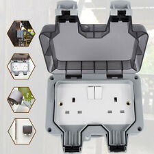 Waterproof Outdoor 13A 2 Gang Storm Switched Socket Double IP66 Outside Use