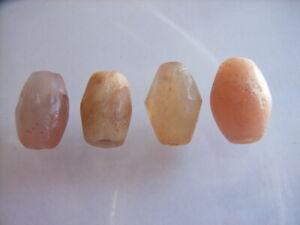 4 Ancient Roman Quartz, Agate Beads Romans VERY RARE!  TOP !!