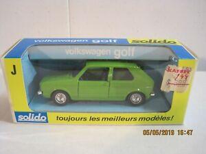 Solido No.19 Vokswagen Golf In Green - NEW IN BOX