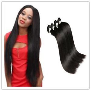 100% Remy Brazilian Virgin straight wave Human Hair Extensions 1/3 Bundles Weft