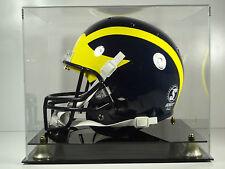 Football Helmet Display Case Full Size sports memorabilia black acrylic base