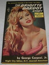 THE BRIGITTE BARDOT STORY (Belmont 1961) Vintage RARE 1st Print Paperback (VF-)