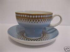 Moccatasse 2-tlg. Lichte Fine China Porzellan Hellblau Gold-Dekor kleine Tasse