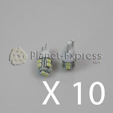 10x Light bulbs 10 LED SMD T10 W5W Car Position reading registration White Xenon