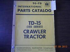 International Parts Catalog TD-15 (150 Series) Crawler Tractor