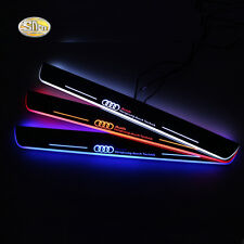 Led door sill for Audi A6 C7 2013 2014 2015 moving light door scuff plate pedal
