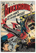 Blackhawk #67 (Quality 1953, fn+ 6.5) guide value: $89.00 (£67.50) Hitler app