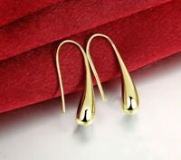 18K Gold Filled Teardrop Waterdrop Hook Drop Earrings MADE IN ITALY 29mm
