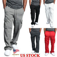 Mens New Slim Fit Tracksuit Bottoms Skinny Jogging Joggers Sweat Pants Trousers