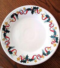 "2007 Fiestaware Holly & Stars, Christmas, Dillard's Exclusive 9"" Luncheon Plate"