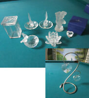 CRYSTAL FIGURINES SWAROVSKI AND LALIQUE FRANCE