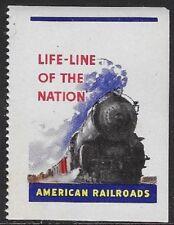 "USA Cinderella: American Railroads - Life-Line of the Nation ""MNH"" - dw123s2"