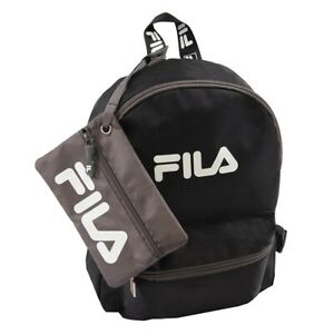 FILA Hailee 2 Piece Mini Backpack with Pouch NWT NEW Black
