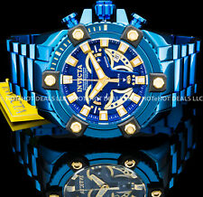 Invicta Grand Octane Coalition Forces Swiss Chronograph Blue SS Bracelet Watch !