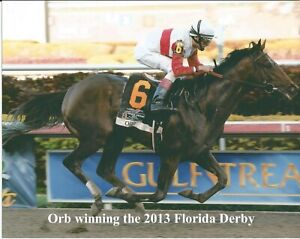 "2013 - ORB winning the Florida Derby - 10"" x 8"""