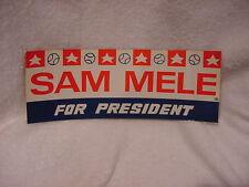 VINTAGE & RARE Minnesota Twins 1965 Sam Mele For President Bumper Sticker, MINT!