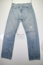 Levi's 501 customized (Cod. H2029) Tg48 W34 L34  jeans usato.