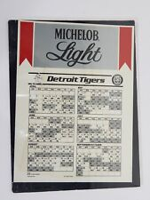 1978 Michelob Light Detroit Tigers Game Schedule Calendar Poster