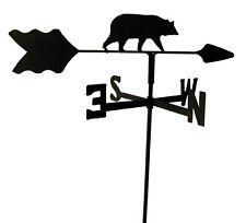 Bear Garden Style Weathervane Black Wrought Iron Look Made In Usa