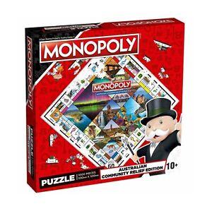 Monopoly Australian Community Relief Edition 1000pc Jigsaw Puzzle / BNIB Sealed