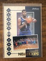 Zion Williamson 2019-20 Panini Hoops NBA Class of Gold Foil RC Card #7 Pelicans