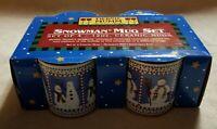 DEBBIE MUMM 4 SNOWMAN MUG SET 12 oz Ceramic Christmas Coffee Mugs NEW in Box