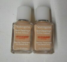2 lot NEUTROGENA SKIN CLEARING OIL FREE MAKEUP 10 CLASSIC IVORY uns exp 02/2018