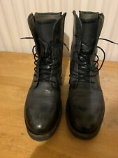Emporio Armani Mens Leather Boots Grey/black 40 Worn Only Twice