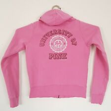 Victorias Secret Love PINK Small Pink Hoodie University Of Pink Graphic