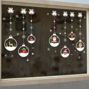 Merry Christmas Happy New Year Wall Stickers Vinyl Decal Window Decoration W