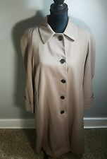 New Vintage Jones New York Coat Long 100% Pure Wool Womens Trench Size Petite