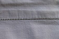 FRENCH OLD LINEN - beautiful embroidered sheet - N0032