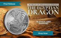 The EGYPTIAN DRAGON1 oz Silver Round Coin World of Dragons - #6 of 6 - IN-STOCK!