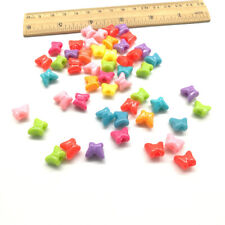 Lot 50pcs butterfly Acrylic Charms Loose Beads Kid Jewelry DIY Accessories